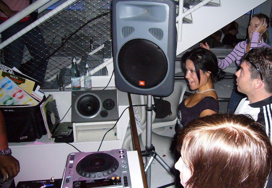 Facing the DJ