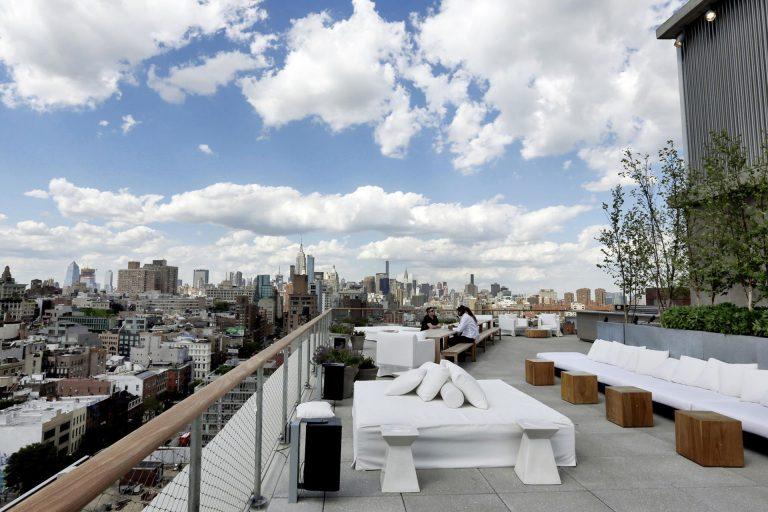Public hotel rooftop