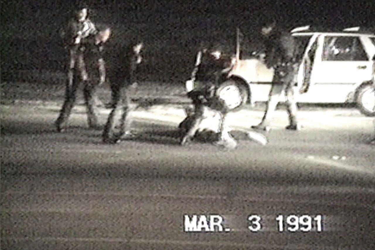 Rodney King beating captured on video