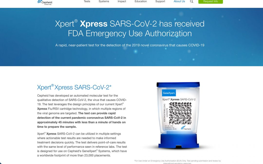 "Cepheid Xpert Xpress SARS-CoV-2 Is First 45-Minute ""Rapid Point-Of-Care"" Test"