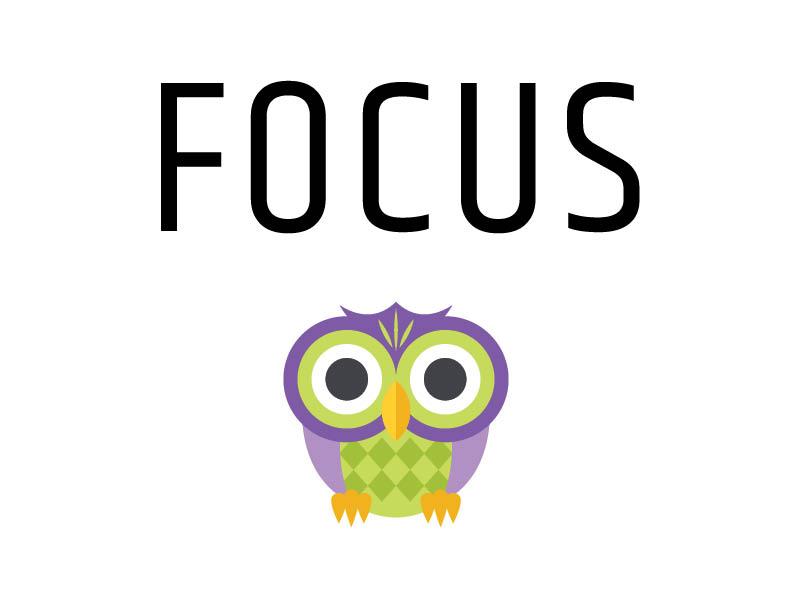Focus inspirational sign