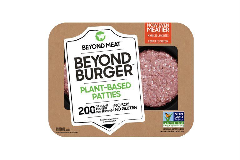 "Beyond Burger plant-based ""meat"" patties"
