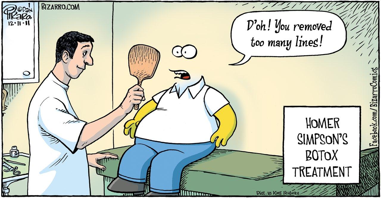 Homer Simpson Botox cartoon by Dan Piraro